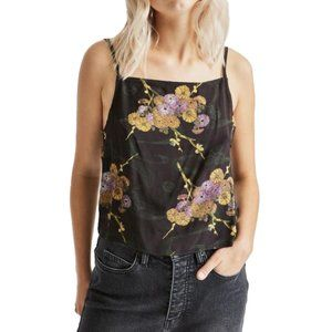 BRIXTON Gisele Cami black and floral pattern